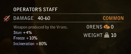 Operator's Staff Stats